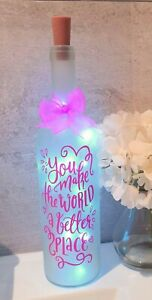LED Light Up Bottle Lovely Gift For a Friends Relative anyone Special