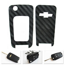 Carbon Fiber Remote Key Chain Protect Cover Sticker Fit For Chevy Cruze Malibu