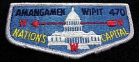 AMANGAMEK WIPIT OA LODGE 470 NATIONAL CAPITAL AREA COUNCIL S-2b FLAP CLOTH BACK