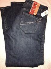 NWT GAP Women's Curvy Straight Fit Jeans Dark Size 6 Destructed Vintage 5 Pocket