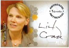 Alias Season 1 Auto Card A6 Lindsay Crouse as Dr. Carson Evans