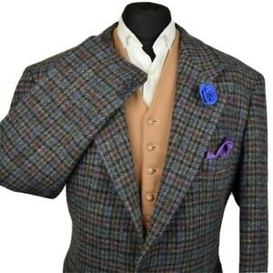 Harris Tweed Tailored Country Checked Blazer Jacket 46R #927 PRISTINE JACKET