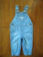 Oshkosh B'gosh Infant Toddler Boys Denim Jean Overalls Size 12 Months