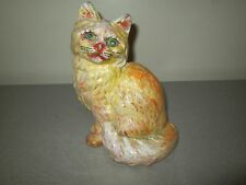 Vintage Cast Iron Cat Doorstop 9x6 Been Painted