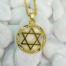 Gold Plated Magen David Star Of David Pendant Necklace