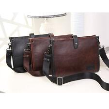 Men's Luxury Faux Leather Document Satchel Bag Briefcase Messenger Laptop Tote