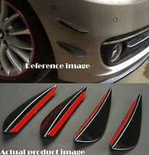 "(Four) 6"" Black Bumper Canard Splitter Fin Wing Spoiler Diffuser Set for Ford"