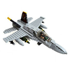 FA-18 Hornet Fighter Plane with Airforce Pilot - Military Building Block Toy