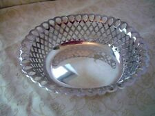 Mappin & Webb~Silver Plate Nut/ sweet Dishes~ Basket Design