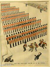 Foreign Potentate Punch1933 Hand Colored Litho politically incorrect UK Army