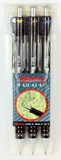 Rotring TIKKY II Pencils Set of 3. 0.35, 0.5 & 0.7mm in Wallet. NEW