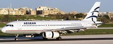 A-320 Aegean Airlines Greece Airbus A320 Airplane Mahogany Wood Model Large New