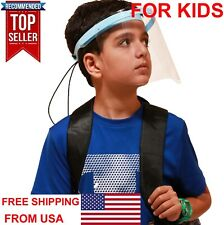 Face Shield Mask FOR KIDS BOYS GIRLS protection clear guard plastic mask 2 3 4 5
