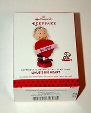 Hallmark Peanuts Linus Linus's Heart Valentine's Day Holiday Ornament 2014 New