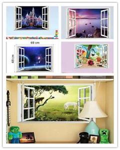 Window 3D Wall Sticker Removable Decal Wallpaper Home Decor Mural Art