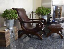 Echtleder Sessel Loungesessel Sitzhocker Hocker Leder Ledersessel Wohnzimmerses