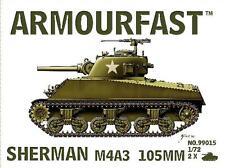 M4A3 Sherman 105mm SERBATOIO (x2) 1/72 in plastica KIT-HAT ARMOURFAST 99015-SPEDIZIONE GRATUITA