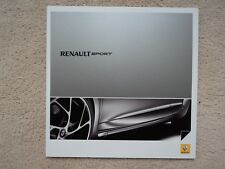 Renaultsport (Twingo 133 Cup-Clio 200 Cup-Megane 250 Cup) Brochure - 2010 - Mint