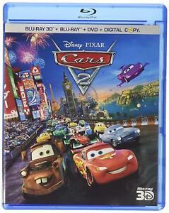 Disney Cars 2 Blu-Ray 3D + Blu-Ray + DVD 5 Disc Set NEW Factory Sealed