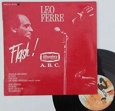 "Vinyle 33T Leo Ferre ""Flash ! Alhambra - A.B.C."" - 25cm"