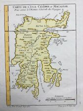 SALE: Indonesia Sulawesi c1750 Célèbes Macassar Sunda by Bellin antique map