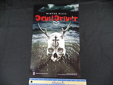 DEVILDRIVER WINTER KILLS PROMO POSTER PROMOTIONAL DOUBLE 2 SIDED 11 X 17 TOUR S1