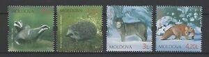Moldova 2011 Fauna, Animals  4 MNH stamps