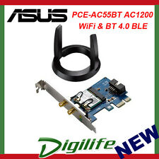 ASUS PCE-AC55BT Dual Band AC1200 WiFi PCI-E Card w/ Bluetooth 4.0 Support BLE