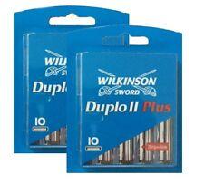 20 Wilkinson Sword Duplo II Plus Rasierklingen mit Aloe Vera Ersatzklingen
