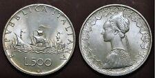 500 LIRE ARGENTO 1958 primo conio dopo la prova