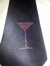 Gogh Gear Vodka Martini 100% Handmade Silk Necktie Tie Black EUC