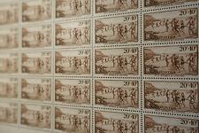 FEUILLE SHEET TIMBRE PTT SPORT LOISIR N°345 x25 1937 NEUF ** LUXE MNH COTE 95€