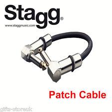 """Guitare Stagg FX pédale câble patch plomb 4""""/10cm avec coudé jacks SPC010L dl"""