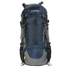 Lixada mochila de senderismo con cubierta lluvia impermeable Paqu(negro)