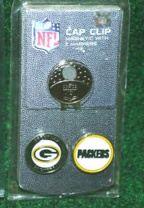 New Green Bay Packers Team Golf Magnetic Cap Clip and Ball Marker Set