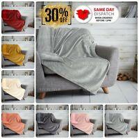 Teddy Bear Throw Glitter Fleece Fur Warm Cosy Sofa Bed Travel Blanket Large