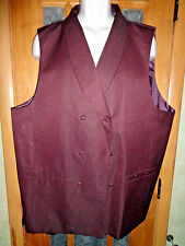 NEW! Paitano Burgendy Button Up Dress Vest 100% Polyester Size 50R Waist 45