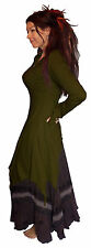 LONG HOODED POINTY MEDIEVAL DRESS TOP 10 12 14 S M wicca pagan goth pixie witch