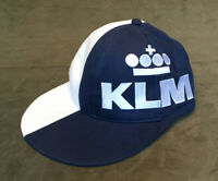 Rare KLM Royal Dutch/ Northwest Airlines Wide Rim Cap Hat -Worldwide Reliability