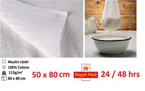 1x MUSLIN MULTIPURPOSE CLOTH CHEESE 50x80cm COOKING STRAIN DRAINING BREW FILTER