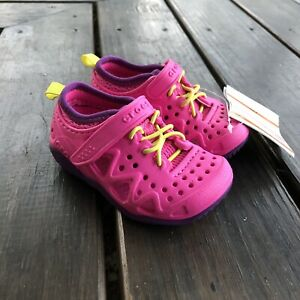 New CROCS Swiftwater 204989 Neon Magenta Pink Purple Play Shoes Toddler Size 6