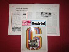 N°2082 bis  / RENAULT promotion n°65 octobre 1968  Renault 6 Alpine Le Mans 68