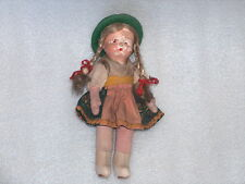 Vintage Antique Folk Doll In Traditional Costume, Germany Or Poland