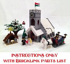 Winter Village Church INSTRUCTIONS ONLY for LEGO Bricks (Christmas like 10259)