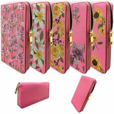 Pink Wallet for Women | Clutch Wallet for Girls with Floral Designs