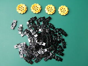 60x New Black Lego Technic Link Tread wide with 4x Large Sprockets 57518 57519