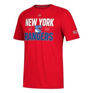 """New York Rangers NHL Adidas Men's Red """"Centennial Convergence"""" T-Shirt"""