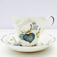 Vintage Argyle Bone China Silver Wedding Anniversary Tea Cup Saucer Set