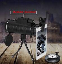 UK 2018 PANDA 40X60 HD Dual Focus BAK4 Prism Monocular Telescope + Tripod + Clip