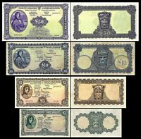 Irlande -   2x  1, 5, 10, 50 Pounds - Edition 1928 - 1937 - Reproduction - 08